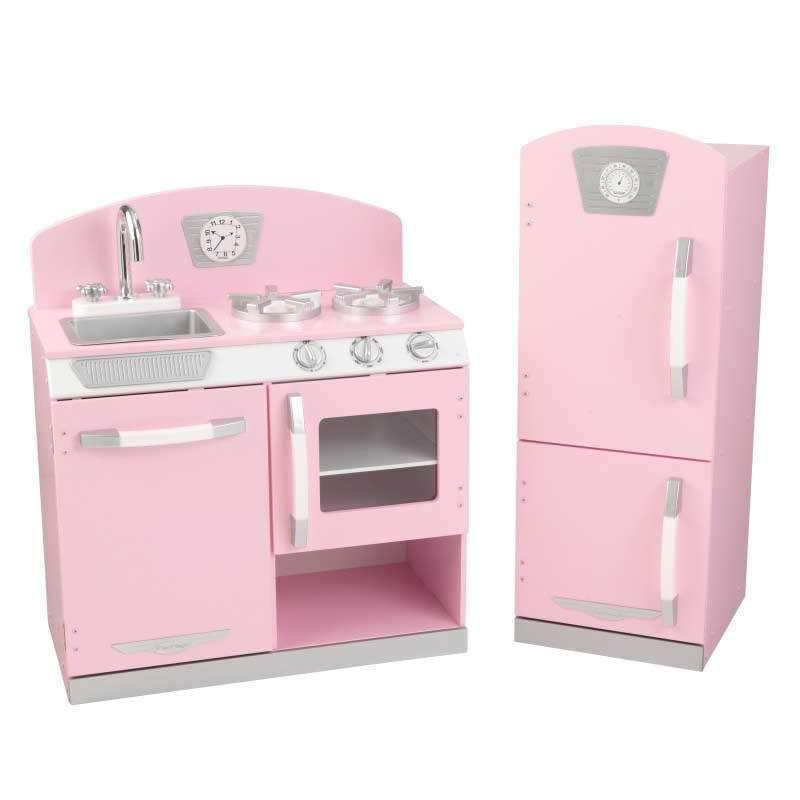 marvelous Kidkraft Pink Retro Kitchen And Refrigerator Play Set Part - 5: KidKraft