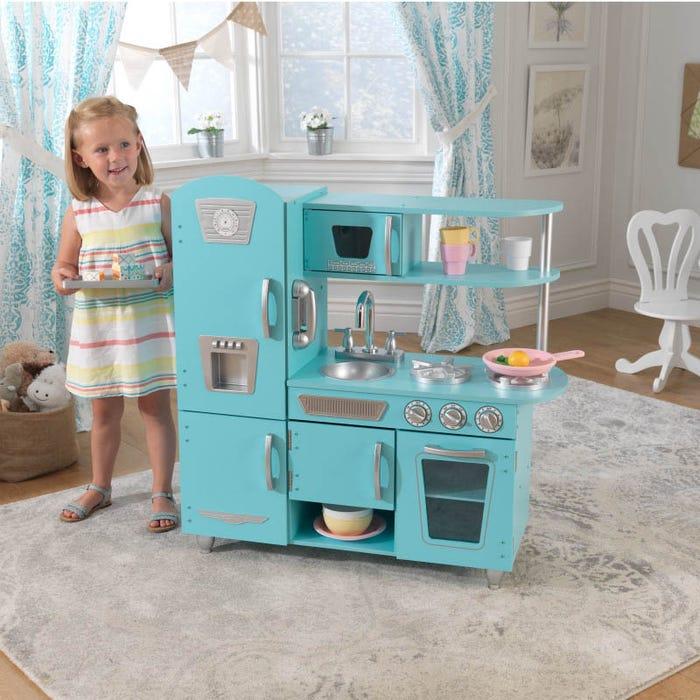 Vintage Play Kitchen Blue
