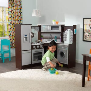 Ultimate Corner Play Kitchen with Lights & Sounds - Espresso