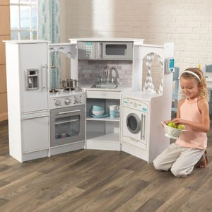 Ultimate Corner Play Kitchen with Lights & Sounds - White