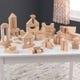60-Piece Wooden Block Set - Natural