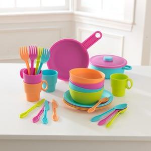 Speelgoed keukenset 27-delig - felgekleurd