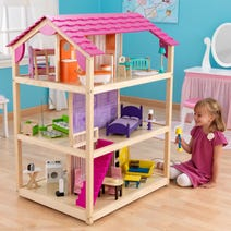So Chic Wooden Dollhouse