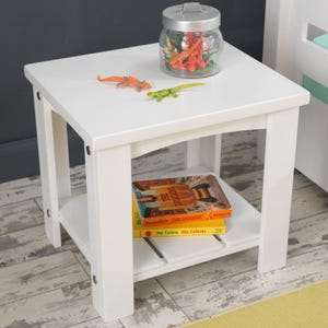 Addison Toddler Side Table - White