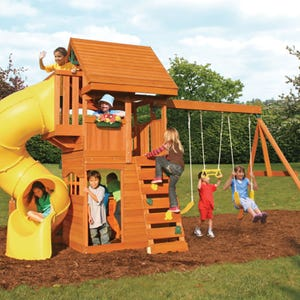 Grandview Deluxe Wooden Playset 1