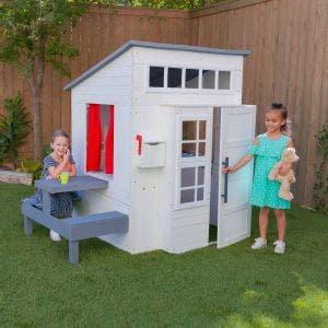 Modern Outdoor Playhouse - White