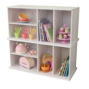 Storage Unit with Shelves - White