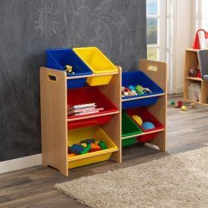 7 Bin Toy Storage Unit - Natural