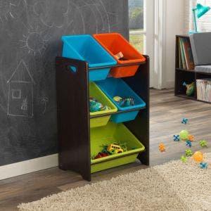 5 Bin Toy Storage Unit - Brights
