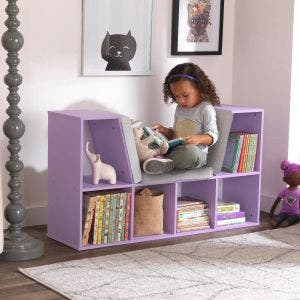 Bookcase with Reading Nook - Lavender
