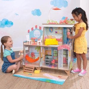 Ferris Wheel Fun Beach House Dollhouse with EZ Kraft Assembly™