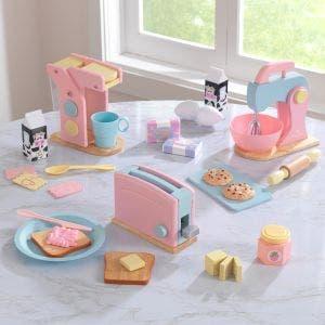 Pastel Play Kitchen Appliance Set