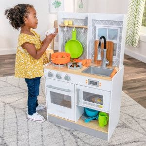Let's Cook Wooden Play Kitchen and 21 Accessories