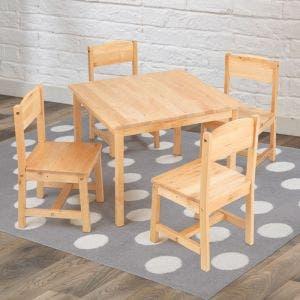 Farmhouse Table & 4 Chairs- Natural