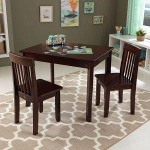 Avalon Table II & Chair Set - Espresso