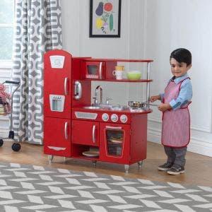 Vintage Play Kitchen - Red