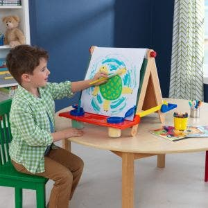 Tabletop Easel - Natural with Primary