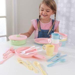 27-Piece Pastel Cookware Playset
