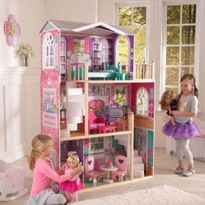 18-Inch Wooden Dollhouse Doll Manor