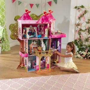 Storybook Mansion Wooden Dollhouse