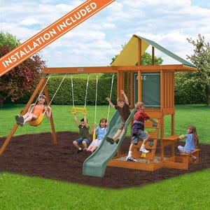 Springfield II Wooden Swing Set