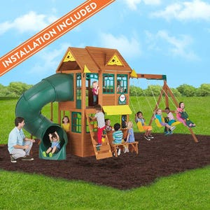 Summerlin Retreat Wooden Swing Set