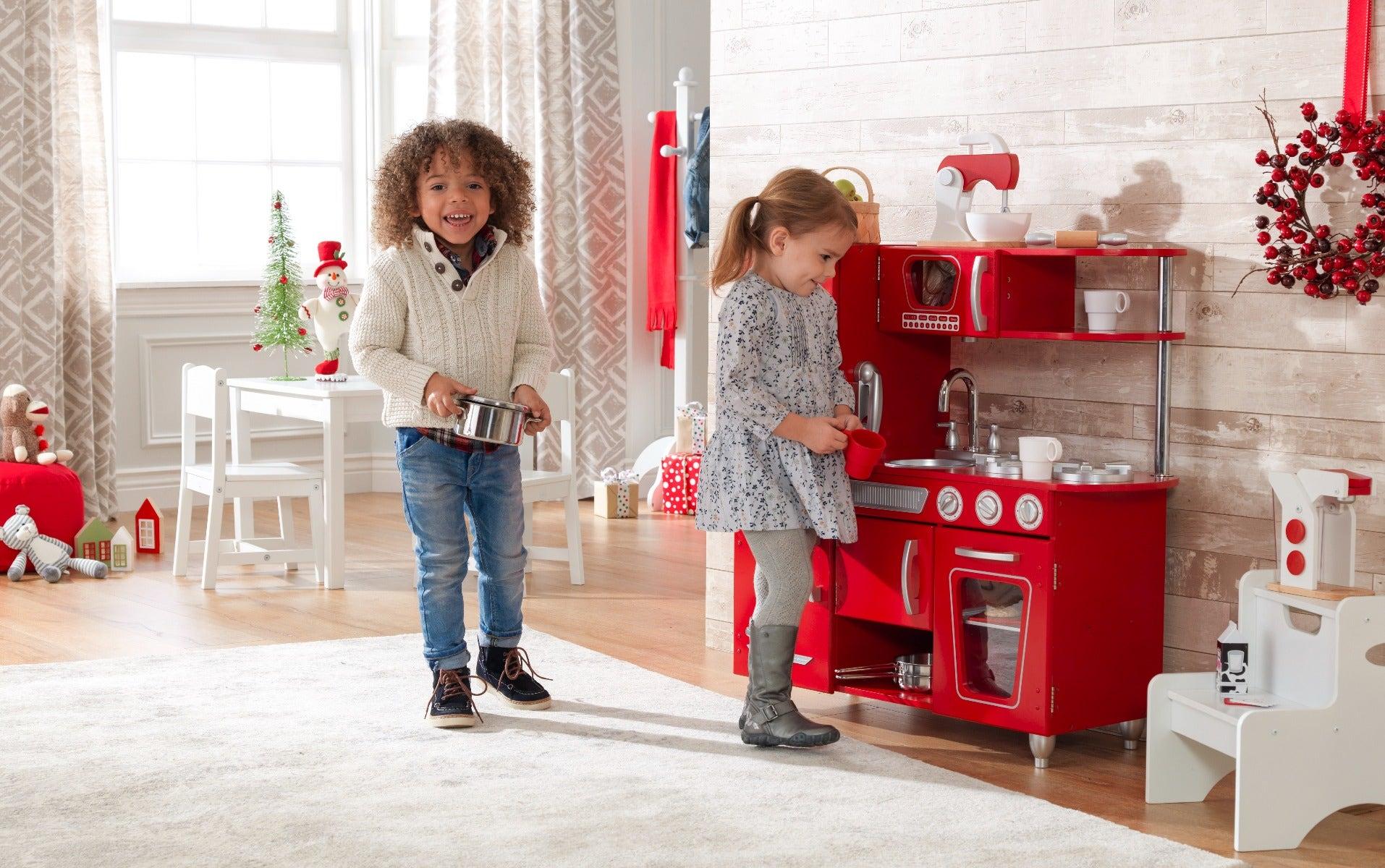 Kids Play Kitchen Baking Cookies